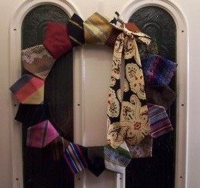 Tie Door Wreath