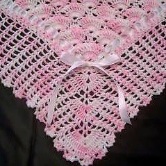Crochet Victorian Raised Shell Mile-a-Minute Afghan Pattern