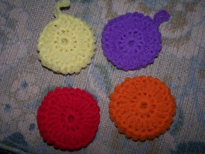 Crocheted Scrubbies- Pot Scrubbers - YouTube