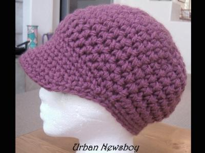 CROCHET PATTERN Childs Slouchy Brimmed Newsboy Cap (Sizes 2 to 5