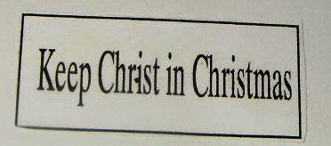 Nativity Christmas card - Keep Christ in Christmas printout.