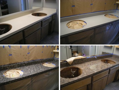 Rustoleum Countertop Paint Directions : with the rust oleum paint sanding or priming is not required the ...